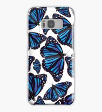 Blue Monarch Butterflies Samsung Galaxy Case/Skin