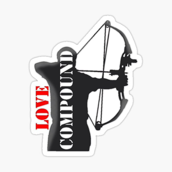 RegalDesign//Archery I Love Archery Stickers Compound Archer Stickers Recurve