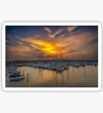 Lymington Yacht Haven Sunset Sticker