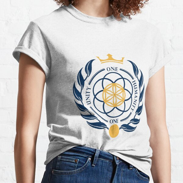 One Unity One Humanity Coat of Arms #Asgardia  #SpaceKingdom #SpaceNation #MicroNation  Classic T-Shirt