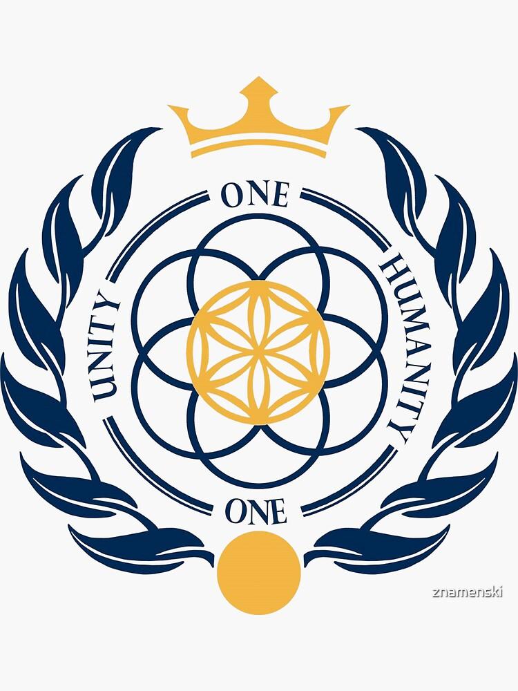 One Unity One Humanity Coat of Arms #Asgardia  #SpaceKingdom #SpaceNation #MicroNation  by znamenski