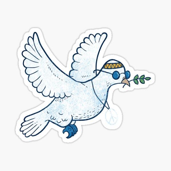 The Hippie Dove Sticker