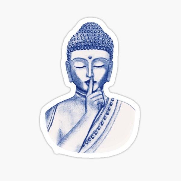Shh ... do not disturb - Buddha  Sticker