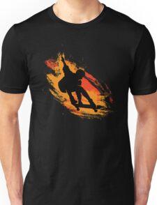 Skater - Skate Paint Brushes Distressed Design T-Shirt