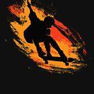 Skater - Skate Paint Brushes Distressed Design by Denis Marsili