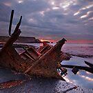 Saltwick Bay Sunset by Phillip Dove