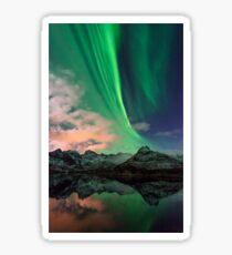 Aurora Borealis - Svolvaer, Norway Sticker