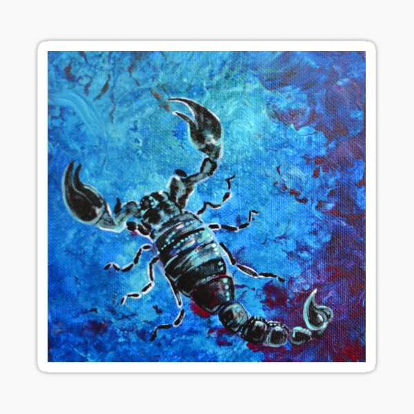 Scorpius - black and blue scorpion  Sticker