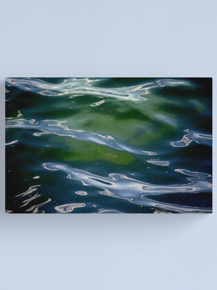 Alternate view of The Face Beneath the River Canvas Print