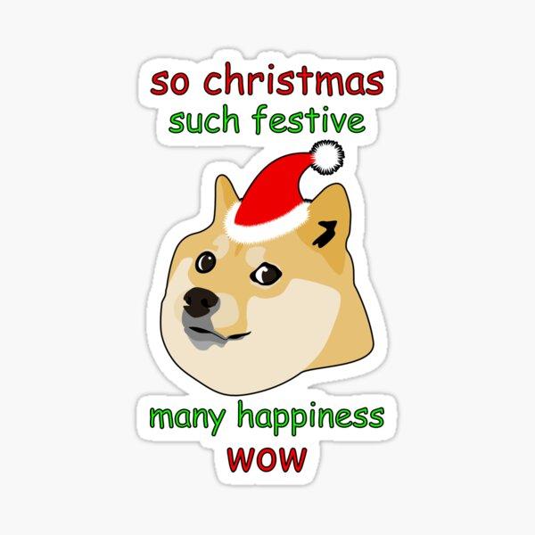 So Christmas - Doge Sticker