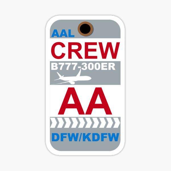 AA Boeing 777-300ER Crew Dallas-Fort Worth Sticker
