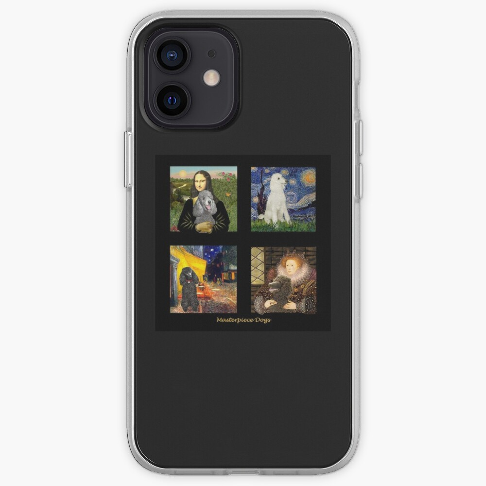 Composite:  Standard Poodles Inserted into Famous Art iPhone Case & Cover