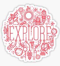 Explore Space Sticker