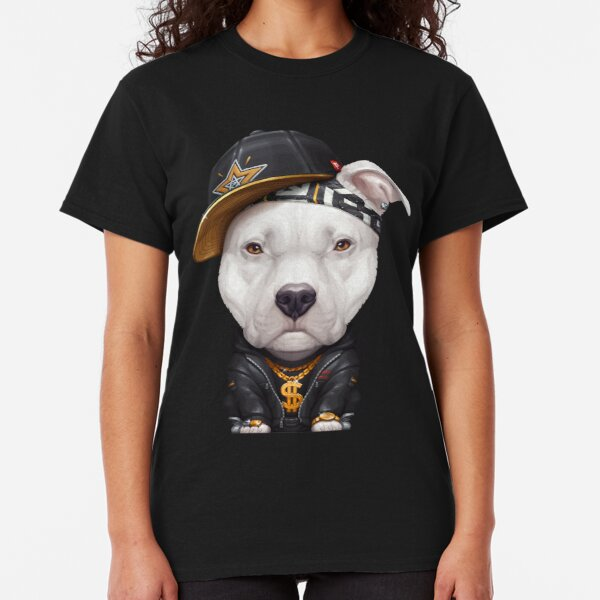 Pit Bull Gear Peace Love /& Pit Bulls Womens Bling Fitted Tee