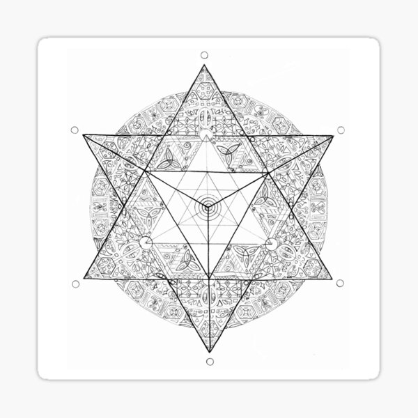 "Tetrahedron ""the old empire"" Sticker"