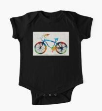 Colorful Bike Art - Free Spirit - By Sharon Cummings One Piece - Short Sleeve
