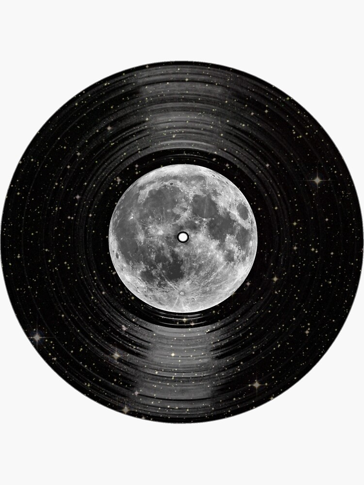 Moon In Space Vinyl LP Record by TheShirtYurt