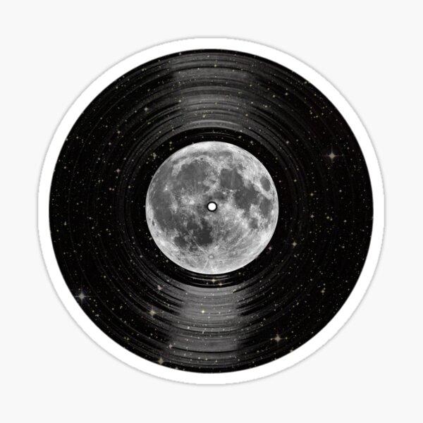 Moon In Space Vinyl LP Record Sticker