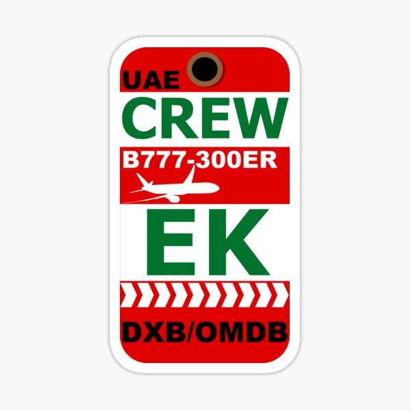 EK Boeing 777-300ER Crew Dubai Sticker