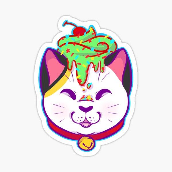 Cupcake Maneki-neko Sticker