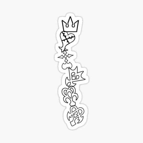 The Symbols of Kingdom Hearts Sticker