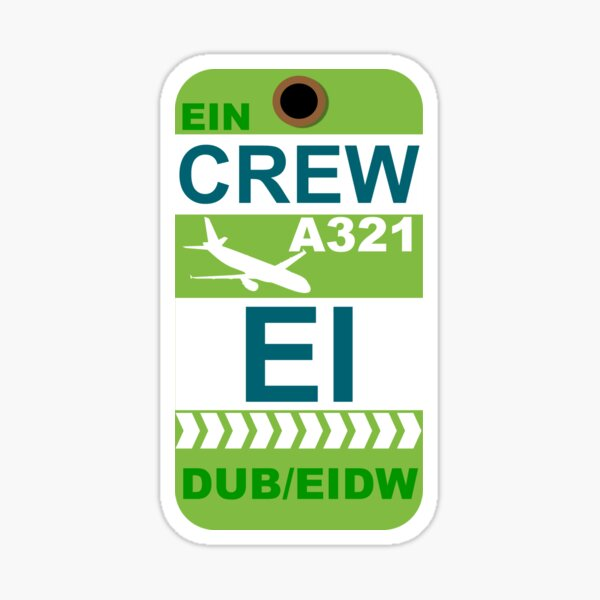 EI Airbus A321 Crew Dublin Sticker