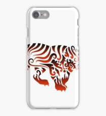 Tiger curl decoration iPhone Case/Skin