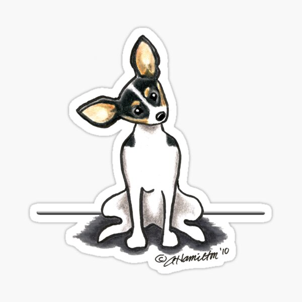 Personalized Vinyl Sticker laptop wall toy fox Toy Terrier Car Window Decal