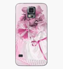 Pink Pansies In Ribboned Pot Case/Skin for Samsung Galaxy