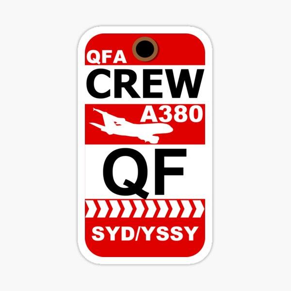 QF Airbus A380 Crew Sydney Sticker