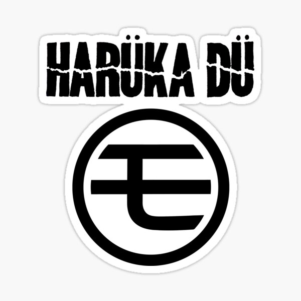 Harüka Dü - Mo Logo - Black Sticker