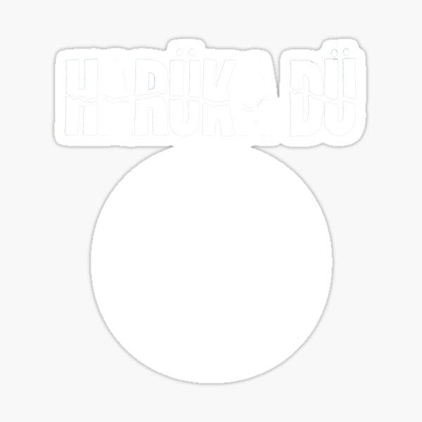 Harüka Dü - Mo Logo - White  Sticker