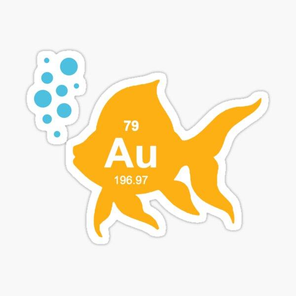 Periodic Table Elemental Gold Fish Sticker