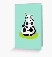 Panda pile Greeting Card