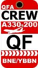 QF Airbus A330-200 Crew Brisbane by AvGeekCentral