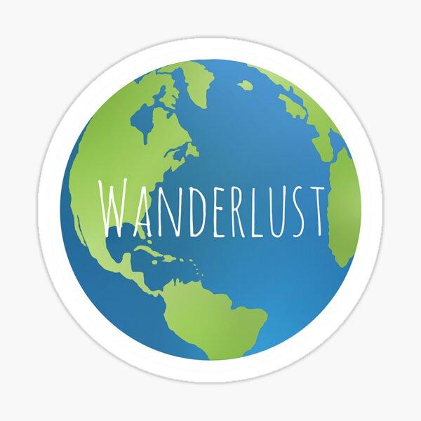 Wanderlust Globe Sticker