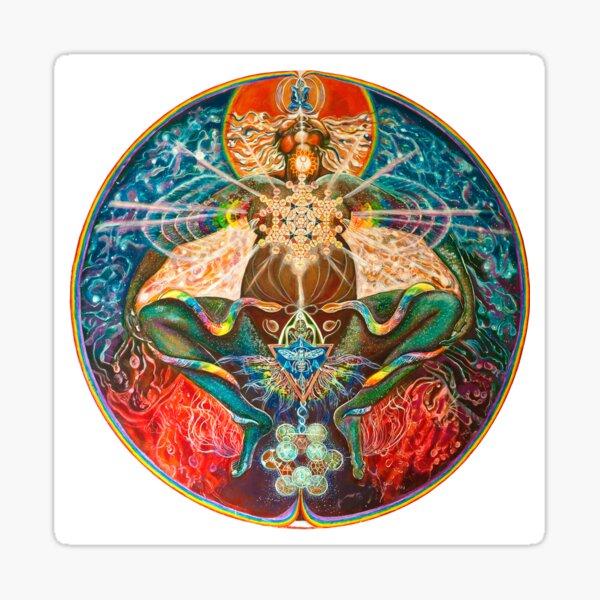Cosmic Mother Birthing Rainbow Body Sticker