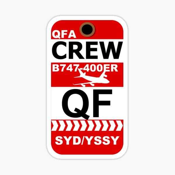 QF Boeing 747-400ER Crew Sydney Sticker
