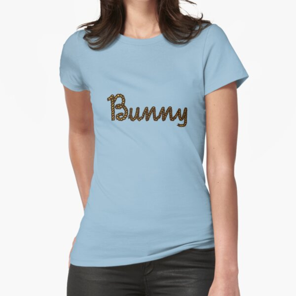 Rope Bunny Script Fitted T-Shirt