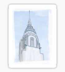 Chrysler Building Digital Illustration Sticker