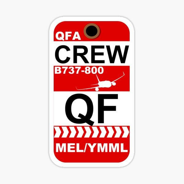 QF Boeing 737-800 Crew Melbourne Sticker
