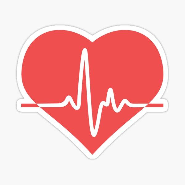 docteur hôpital. 2 STICKERS Moniteur de la vie la ligne de coeur  médicale