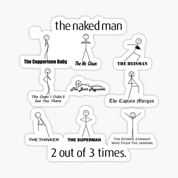 The Naked Man HIMYM Sticker
