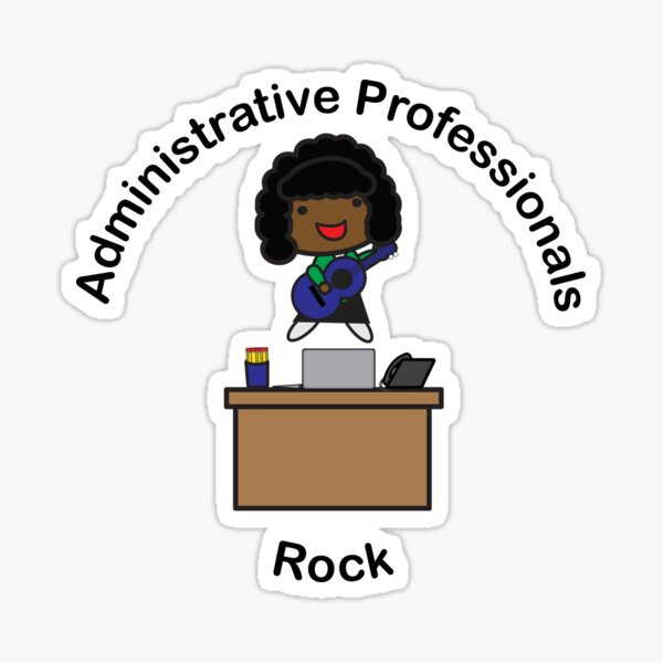 Administrative Professionals Rock (African American) Sticker