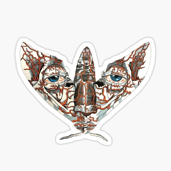 Face Mimic Moth Sticker