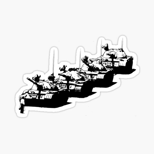 Tank Man Sticker