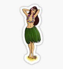 Pin Up Hula Girl  Sticker