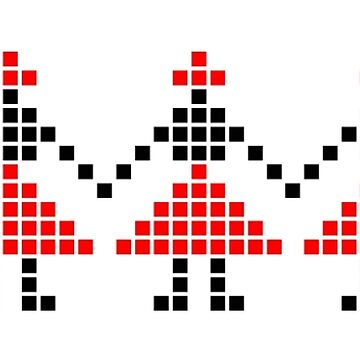 Girls dancing in a row Folk Art design by GLOBEXIT