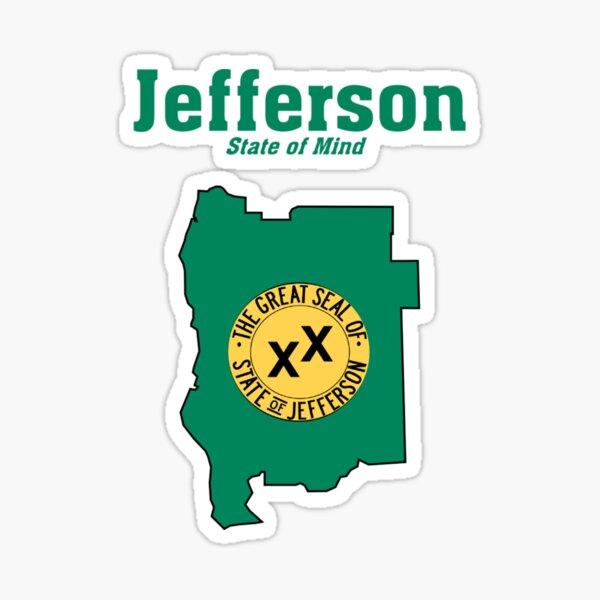 The State of Jefferson (Jefferson State of Mind) Sticker