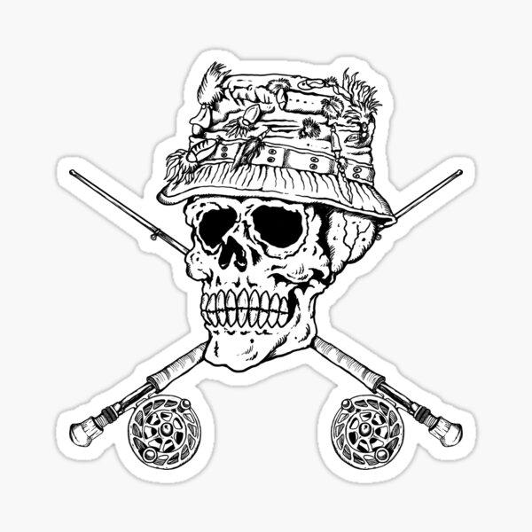 FIshermans Skull Sticker
